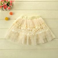 children lace flowers skirt for dance cake skrit