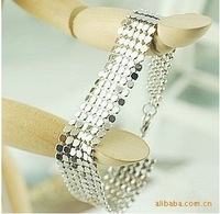 Min. order $10 (mix order) Fashion handsome personality metallic sequins bracelet for women