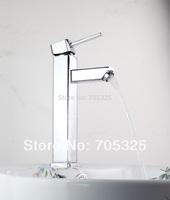 e-pak Unique  Single Hole  Ceramic Deck Mounted Single Handle Chrome Finish Bathroom Basin  Sink Mixer Tap Brass Faucet  AD-1151