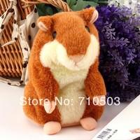 free shippig  russia  Hamster talking Plush Animal Toy Speaking Pet Electronic Talking Hamster For kids