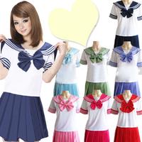 7 Color Girl's Japanese Japan School Uniform Dress Cosplay Costume Anime Lolita