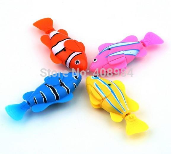 free shipping Magical novel Robot Fish Activated Turbot Electronic Pets Toys Electric Robofish Swimming Clownfish(China (Mainland))