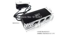2pcs 3 Way Auto Car Cigarette Lighter Socket Splitter 12V Charger Power Adapter Plug DC 12V + USB free shipping