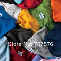 100% plain cotton o-neck short-sleeve T-shirt Men solid color T-shirt parent-child t-shirt lovers