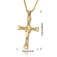 New Cool Fast and Furious Five Toretto's Cross Pendant Chain Necklace free shipping