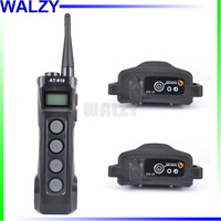 WALZY AT-919 Remote Dog Trainer with 2 Rechageable 10Level Shock Vibration and Sound Dog Training Collar By Post Air Mail