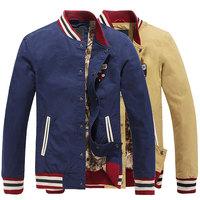 Designer New men sports jackets 2014 spring coat jacket slim fit men's xxl mens clothing fashion discount mens coats outwear