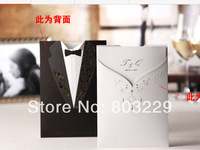 2014 newest! free shipping cost! 50pieces/lot,european style invitation, personality custom wedding invitations CW3072,zongya li