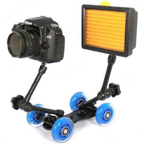 Mini Desktop Camera Rail Car Table Dolly Skater Wheel Truck for DSLR Camera Video Monitor(China (Mainland))