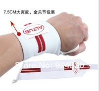 Elastic fitness altus fitness sports spirally-wound lengthen wrist support a pair of flanchard
