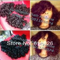 best 6a quality 8-26inch 1b# 100 peruvian virgin aunty funmi hair bouncy curls hair weft 3pcs/lot free shipping