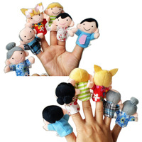Happy Family Finger Puppets, Baby Plush Toy, Talking Props,Baby Dolls (6 family person group)