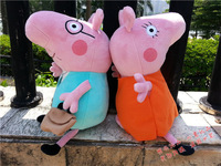 Free shipping British Peppa Pig toy authentic Plush Doll my father and mother  pig high of about 30CM   plush toy