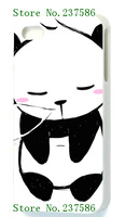 2014 Hot cases! pandas for white iPhone 5 5s  1pcs +free shipping