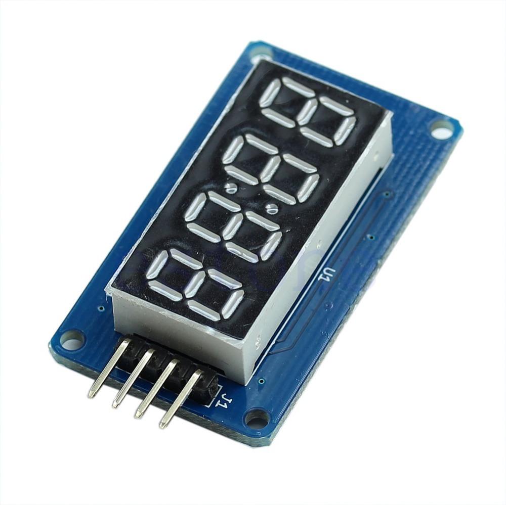 F85 Free Shipping 4 Bits Digital Tube LED Display Module With Clock Display Board For Arduino DIY(China (Mainland))