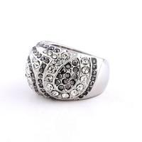 White Gold Plated Rhinestone Ring Woman Decoration Birthday Gift Jewelry