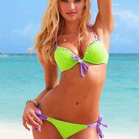 New 2014 Swimsuit Droplets Diamond Buckle Bikini Girl Bikini Swimsuit Small Chest Gather Stones 3123