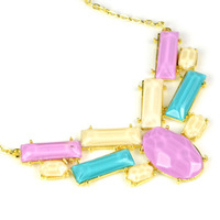 rainbow colors pendant chain necklace new 2014,free shipping over 15