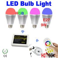 2.4G Group Division E27 RGB 9W LED WIFI Bulb Light Color Temperature+Brightness Adjustable WIFI Bulb Led 85~265V CE ROHS