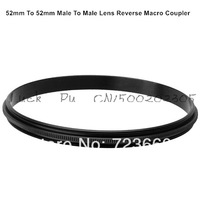 52mm-52mm 52MM to 52MM Male To Male Lens Reverse Macro Coupler Adapter Ring For Canon Nikon Sony Samsung Camera Filter Lens