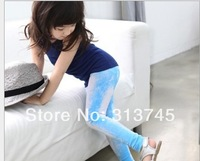 Wholesale kids jeans color pants girls skinny elastic pants,226  children 's  Girls jeans  free shipping