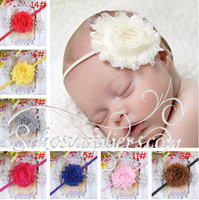 Fashion Chic Flower Baby Elastic Headband Floral Baby Infant Hairband Photo Props Hair Bows 20pcs Free Shipping TS-14026