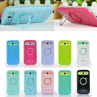 New Dual Color iglow Hard Soft Hybrid Back Stand Case Cover  for Samsung Galaxy S3 SIII i9300 Free shipping