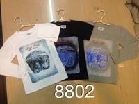 2014 new fashionspring and autumn  full sleeve o-neck novelty  regular dobby cotton boy's  t-shirt