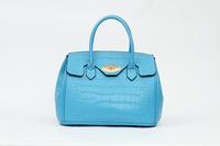 Luxury Crocodile Pattern Handbag: Designers Pu Leather Bag Makeup Doctor Handbag For Women Blue/Rose Red/Fruit Green/Pink/Purple