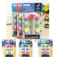 Free Shipping 2set/lot  plunger pencil poop eraser  Novelty eraser / Rubber Eraser/ kids Gifts