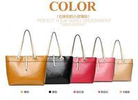 Luxury Tote&Hobo Handbag: Designer Pu Leather Large Bag Makeup Bag-In-Bag Handbag For Woman Yellow/Khaki/Black/Rose Red