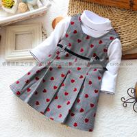 Spring and autumn dress basic dress sleeveless vest one-piece dress all-match a-line dresses set