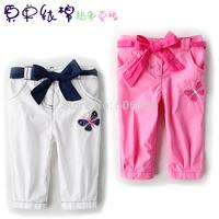 Small child casual pants fashion pants children's capris children's leisure trousers summer trousers five seven girl pants
