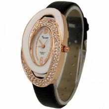 Black Fashion Deluxe Women's Ladies Girls Crystal Diamonate Jewelry Christmas Birthday Gift Analog Quartz Wrist Watches