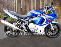Free shipping,Blue White For SUZUKI GSX650 F GSX650F GSX 650F GSXF650 GSXF 650 2008 2009 2010 2011 2012 2013 08-13 moto Fairings