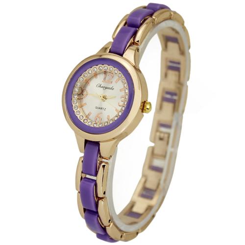 1PC Purple Elegant Charming Jewelry Women Ladies Girl Dress Gift Business Analog Quartz Wrist Hand Watches