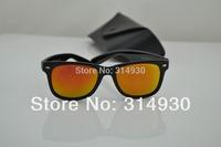 UV New men sunglasses , women sunglasses . Colored reflective glass lens sunglasses50MM high quality retro sunglasses 2140