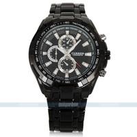 Fashion Black Silver CURREN Stainless Steel Men Sport Analog Quartz men sports watches for free shipping 053025