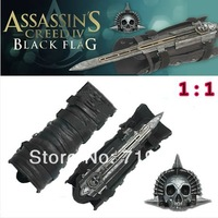 Free shipping High quality NECA Cosplay Assassins Creed 4  Edward Kenway's Black Flag Pirate Hidden Blade Toys without Box