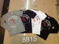 New's brand chirdren ,boy's O-neck full sleeve shirt,fashion children's gray and white color cotton t-shirt