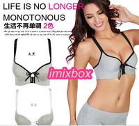 Bra push up bamboo charcoal fiber health bra front closure button underwear sports bra for summer Free &Drop shipping