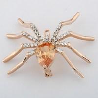 Fashion full rhinestone spider  brooch cravat exquisite gift brooch  XZ051