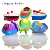 GAGA DEAL 6pcs/lot Elegant Baby Boat Party Squirties Bath Toys Infant /Kid Water Spraying Education Set BPA Free Drop Shipping