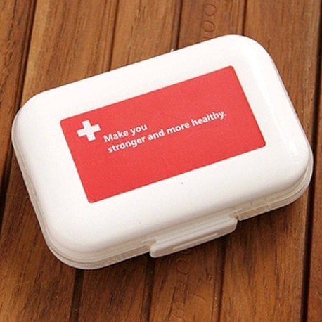 Single portable large capacity 8 grid multifunctional storage box pill case pill splitter medicine box free shipping(China (Mainland))