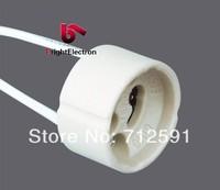 FedEx !! Free Shipping Ceramic GU10 Fixture Spotlight Fixture Holder Base Socket Wire Connector fitting GU10 Lamp Holder
