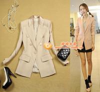 women's mm slim medium-long elegant ol suit beige outerwear