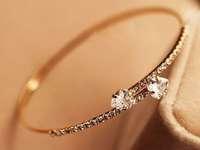 F07751 All Match Simple Women's Telesthesia Rhinestone Style Bracelet Adjustable Thin Bangle + freeshipping