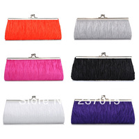 Ladies Women Satin Wedding Bridal Evening Handbag Party Club Purse Clutch Bag
