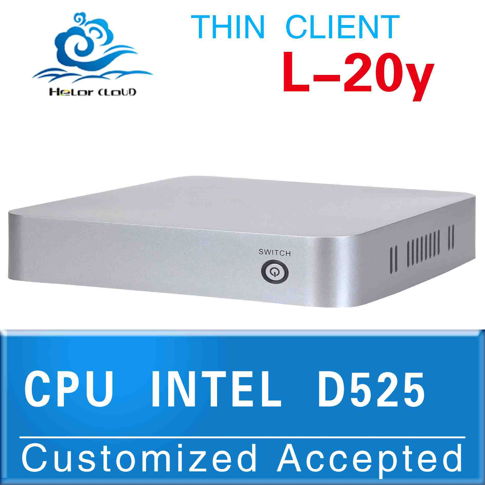 Low price!!mini pc barebone Intel Atom D525(1.8GHZ Frequency)igel pc Fanless Small System (GPRS / wifi supported)(China (Mainland))