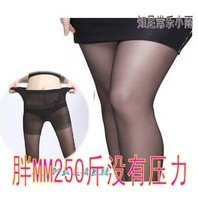 Summer thin pantyhose plus size oversized ultra high mm stockings plus crotch